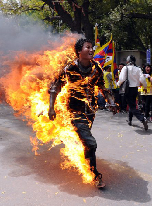 INDIA-TIBET-CHINA-PROTEST-RELIGION