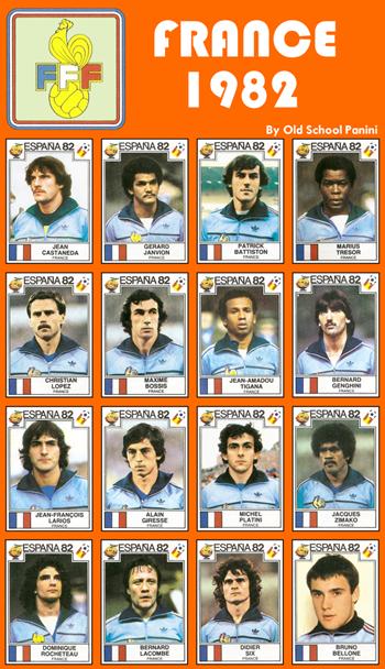 Panini France - Mondial 1982