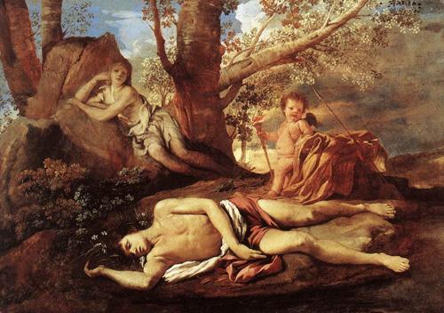 Poussin, Nicolas (1594-1665) - Echo et Narcisse